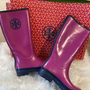 Womens tory burch rain ☔️ boots 8.5